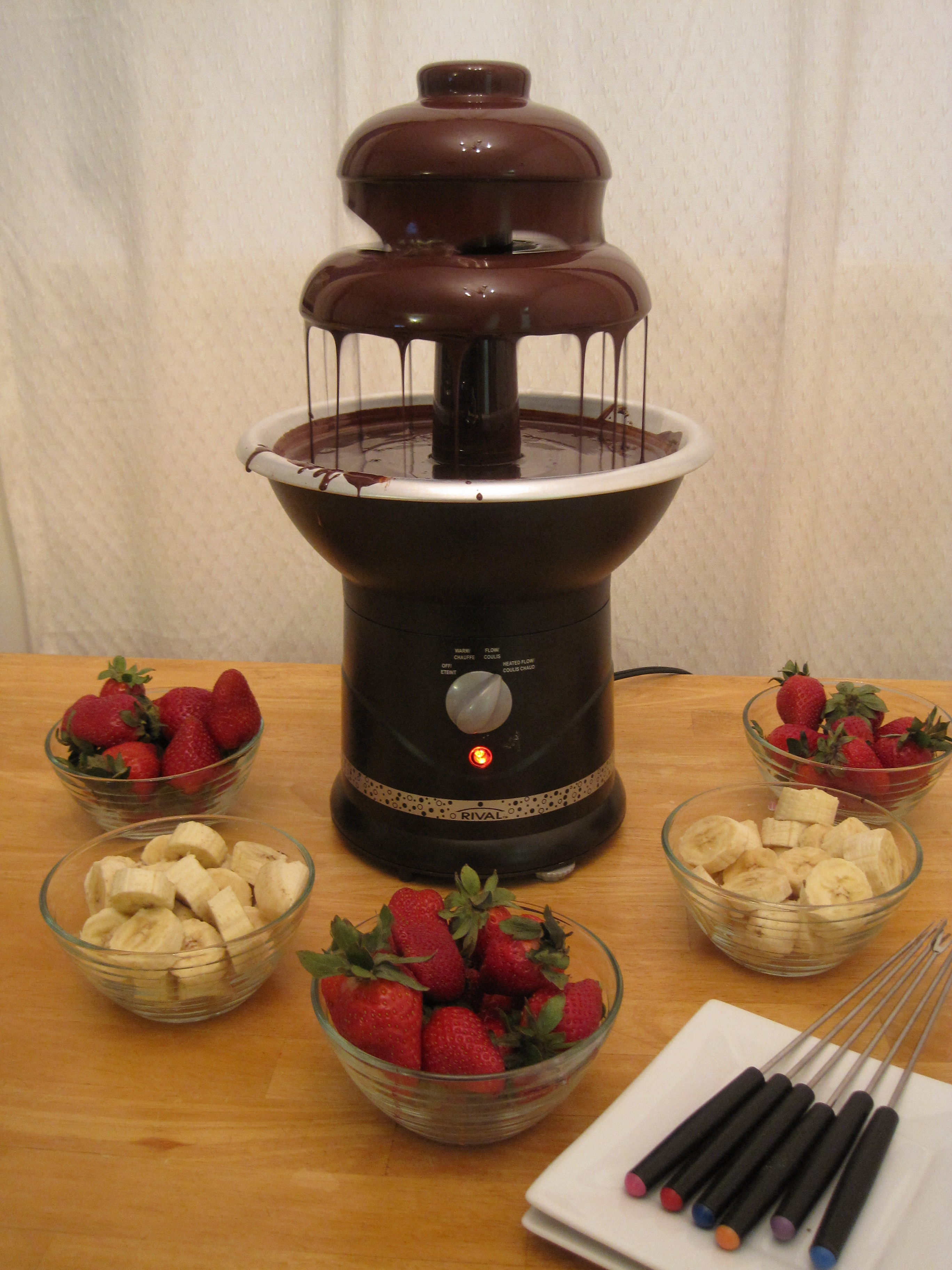 Chocolate Fountain 100th Post Cooking with Alison