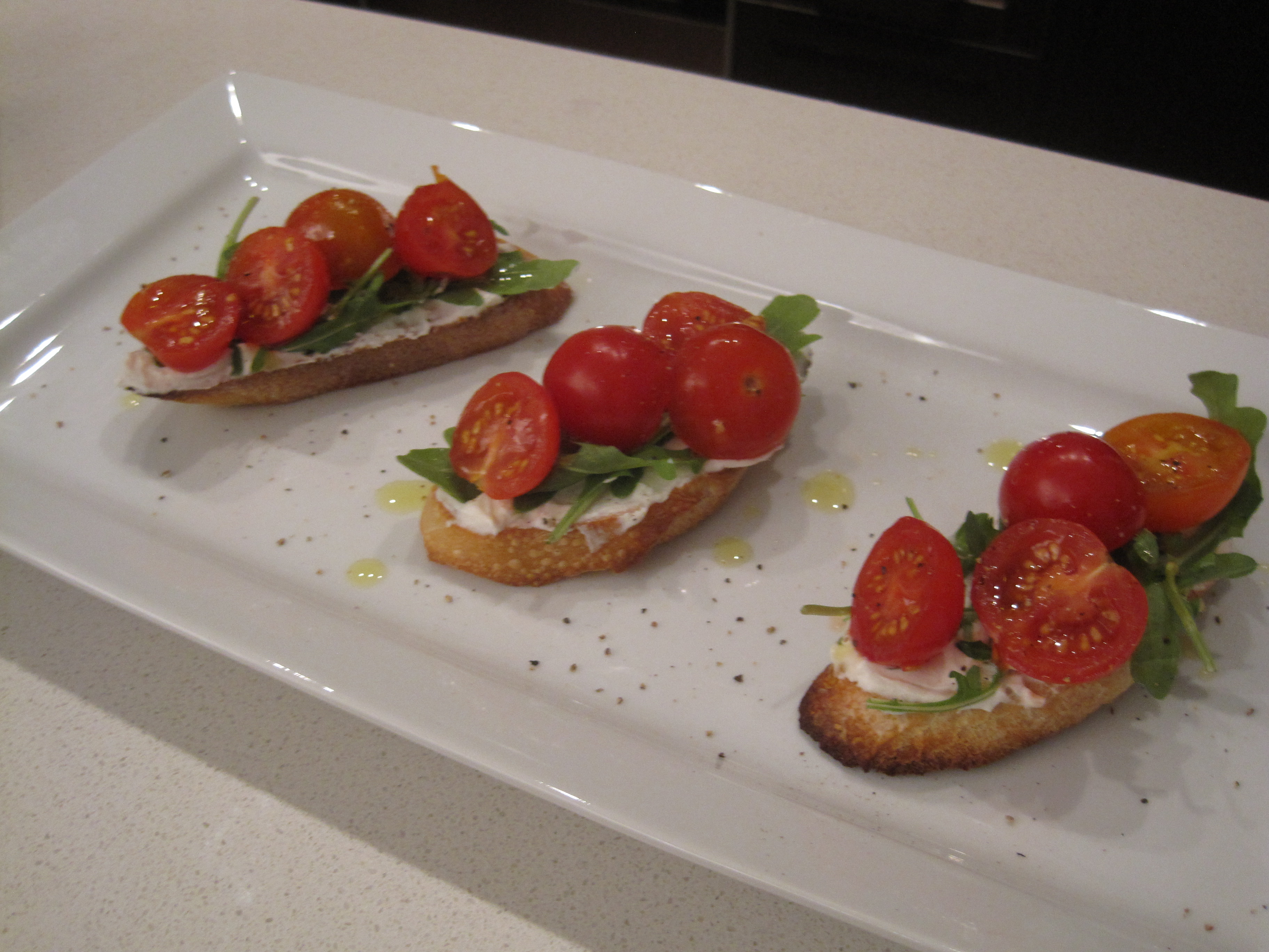 Ricotta and Tomato on Toast or Crostini | Cooking with Alison