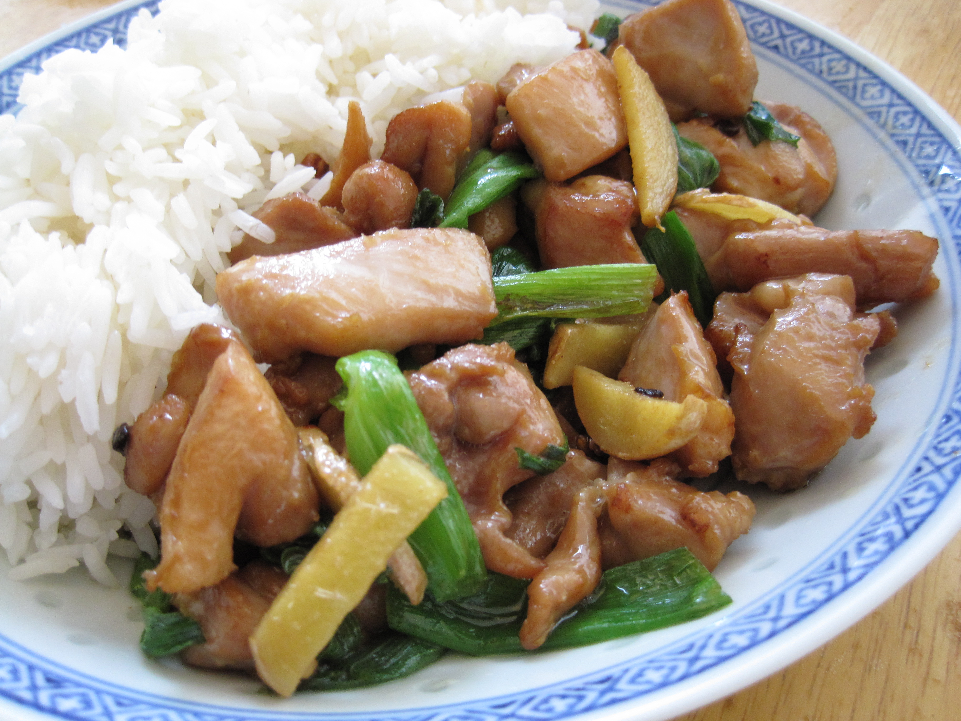 Stir fried chicken with ginger and scallions cooking with alison ginger forumfinder Images