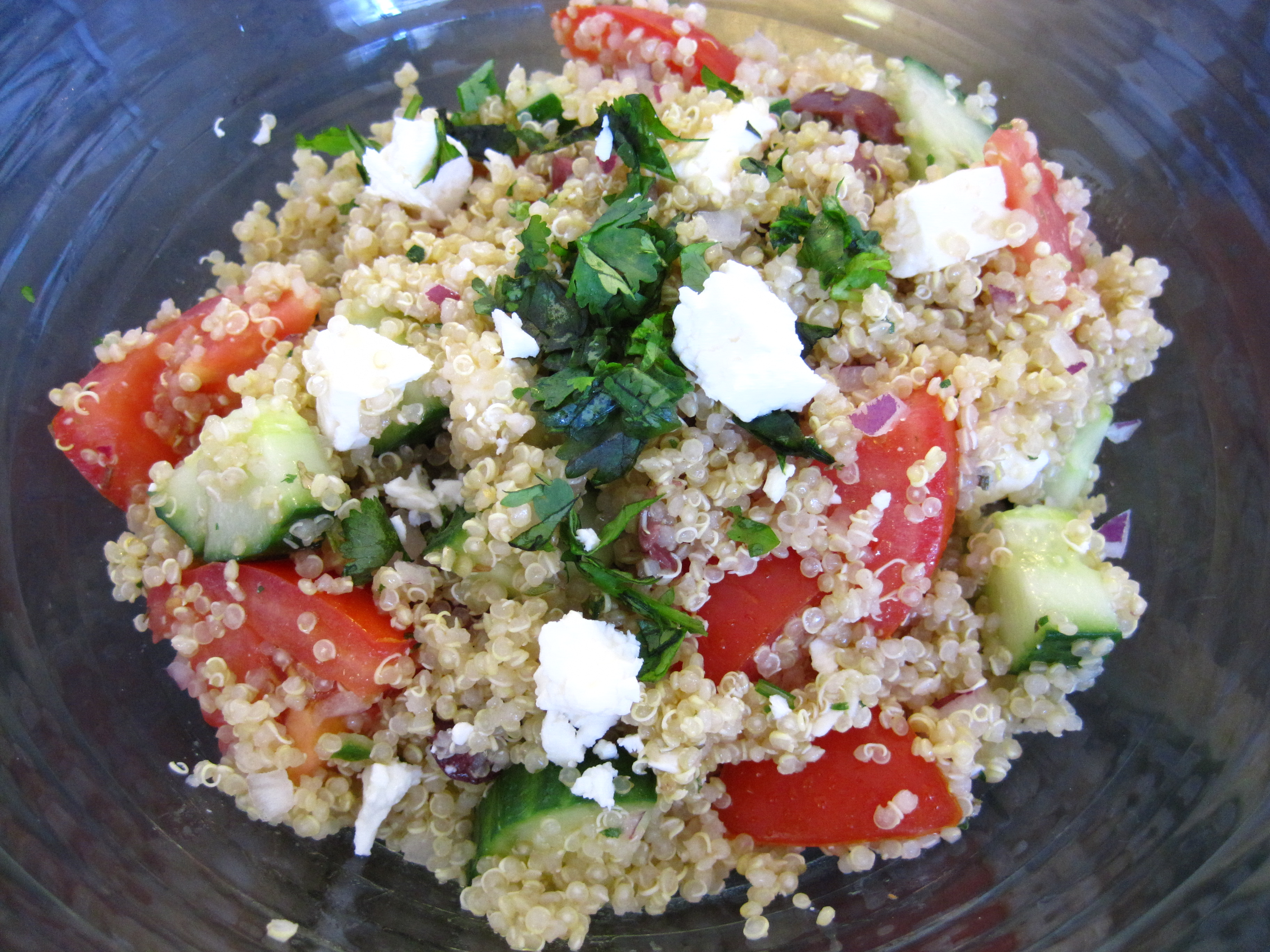 Greek Quinoa Salad Recipe | Cooking with Alison