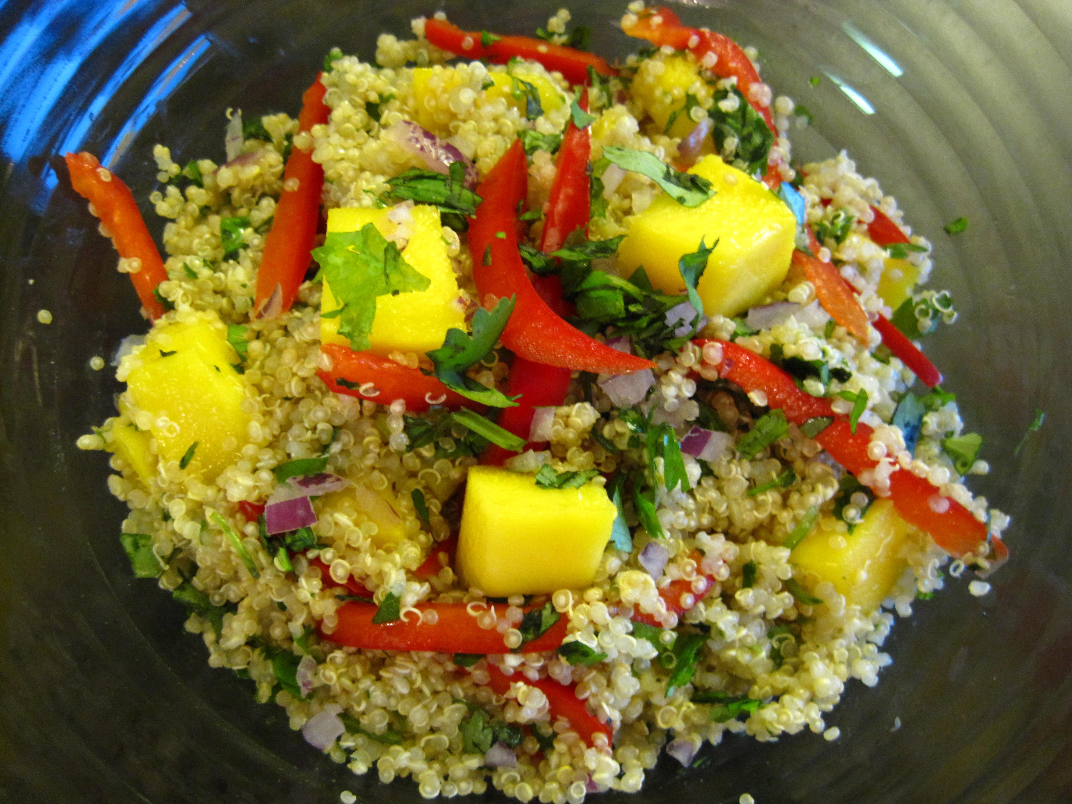 Mango Quinoa Salad Recipe | Cooking with Alison