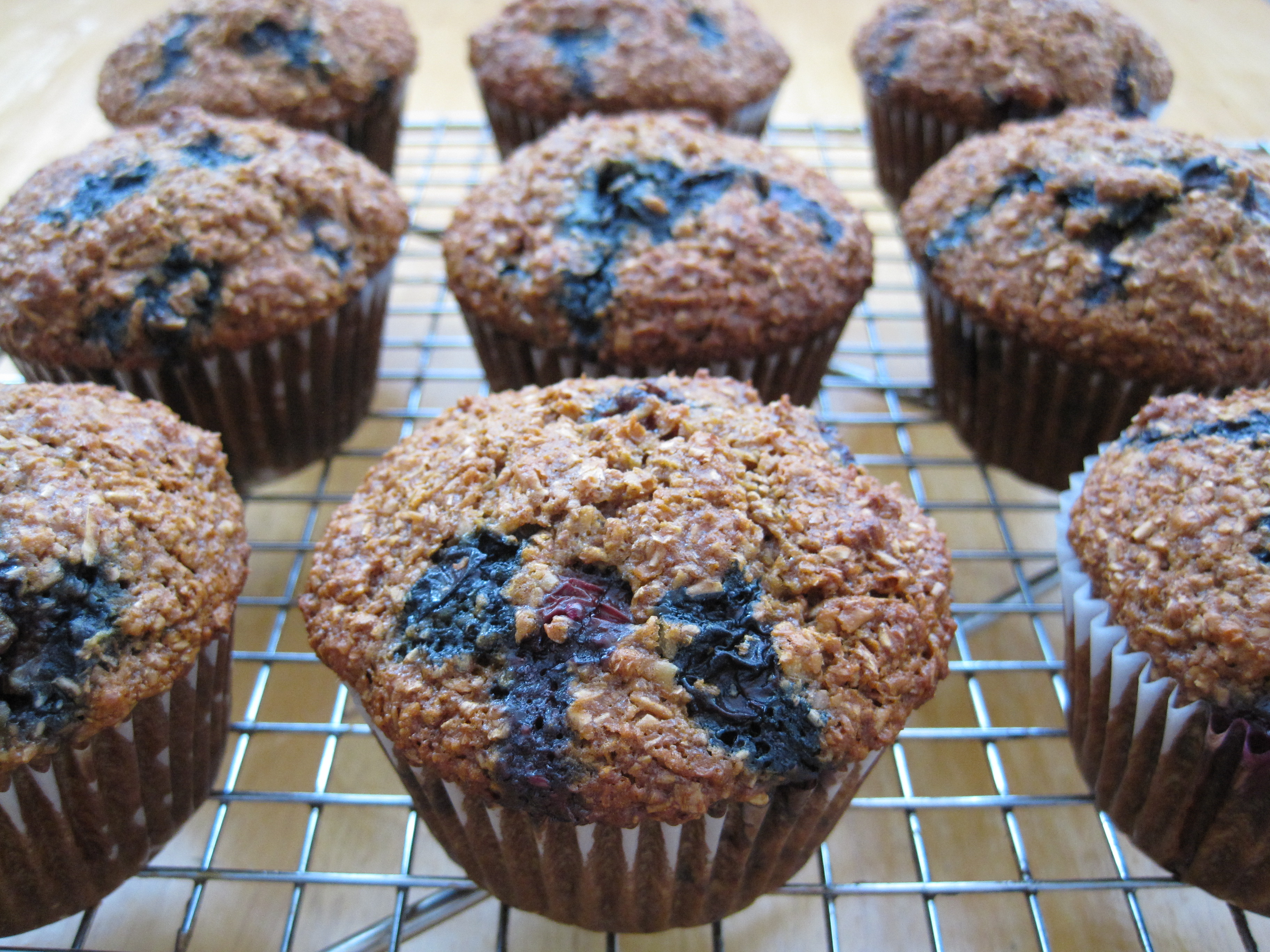 Best Blueberry or Cranberry Bran Muffins | Cooking with Alison