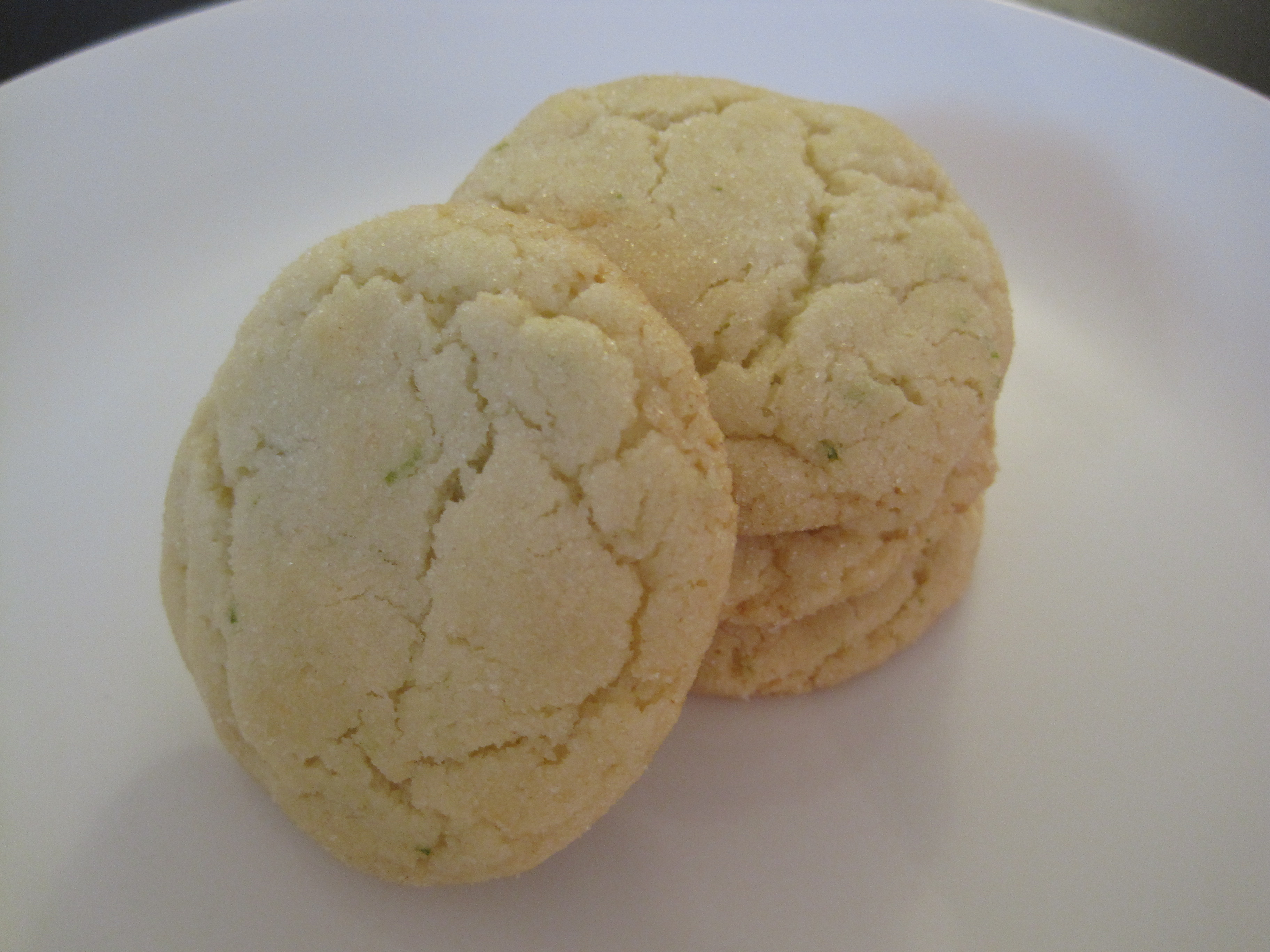 Chewy Lime and Coconut Sugar Cookies (Variation #2)