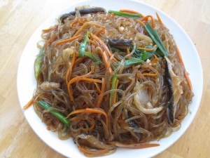 Jap Chae Recipe Korean Glass Noodle Dish Cooking With