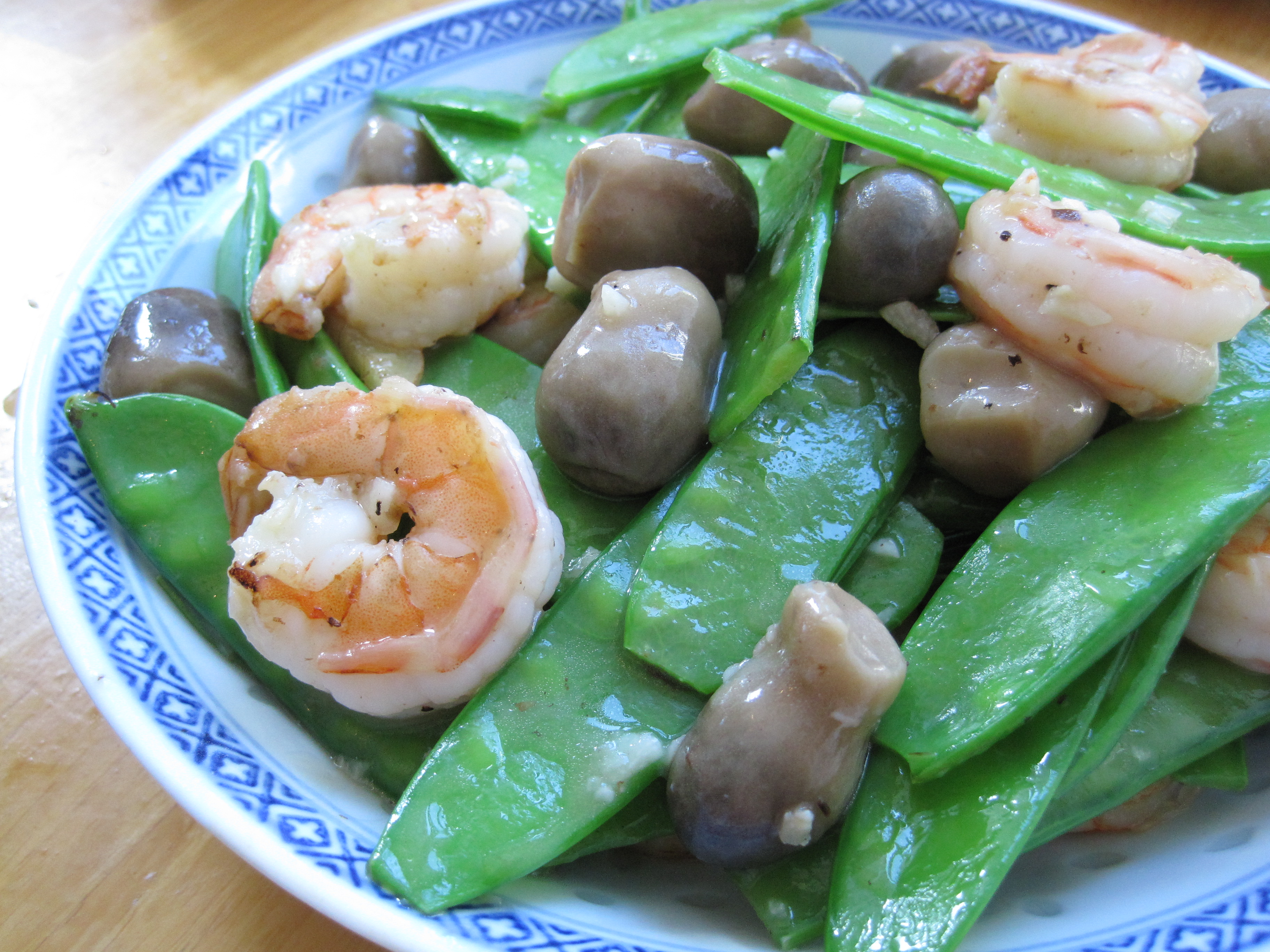 Stir fried snow peas with seafood chinese restaurant style i forumfinder Gallery