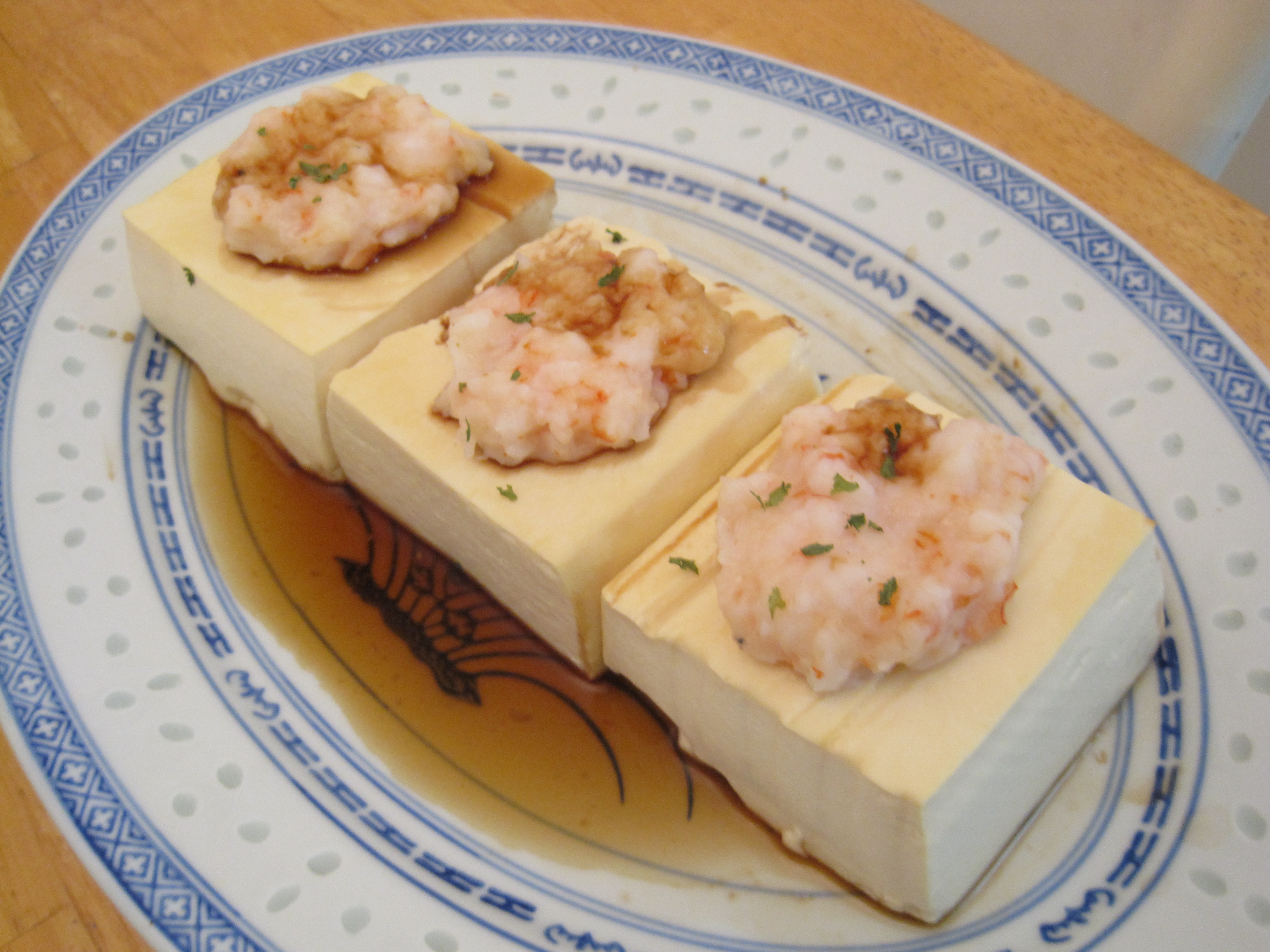 Steamed tofu with shrimp recipe cooking with alison steamed tofu with shrimp recipe forumfinder Choice Image