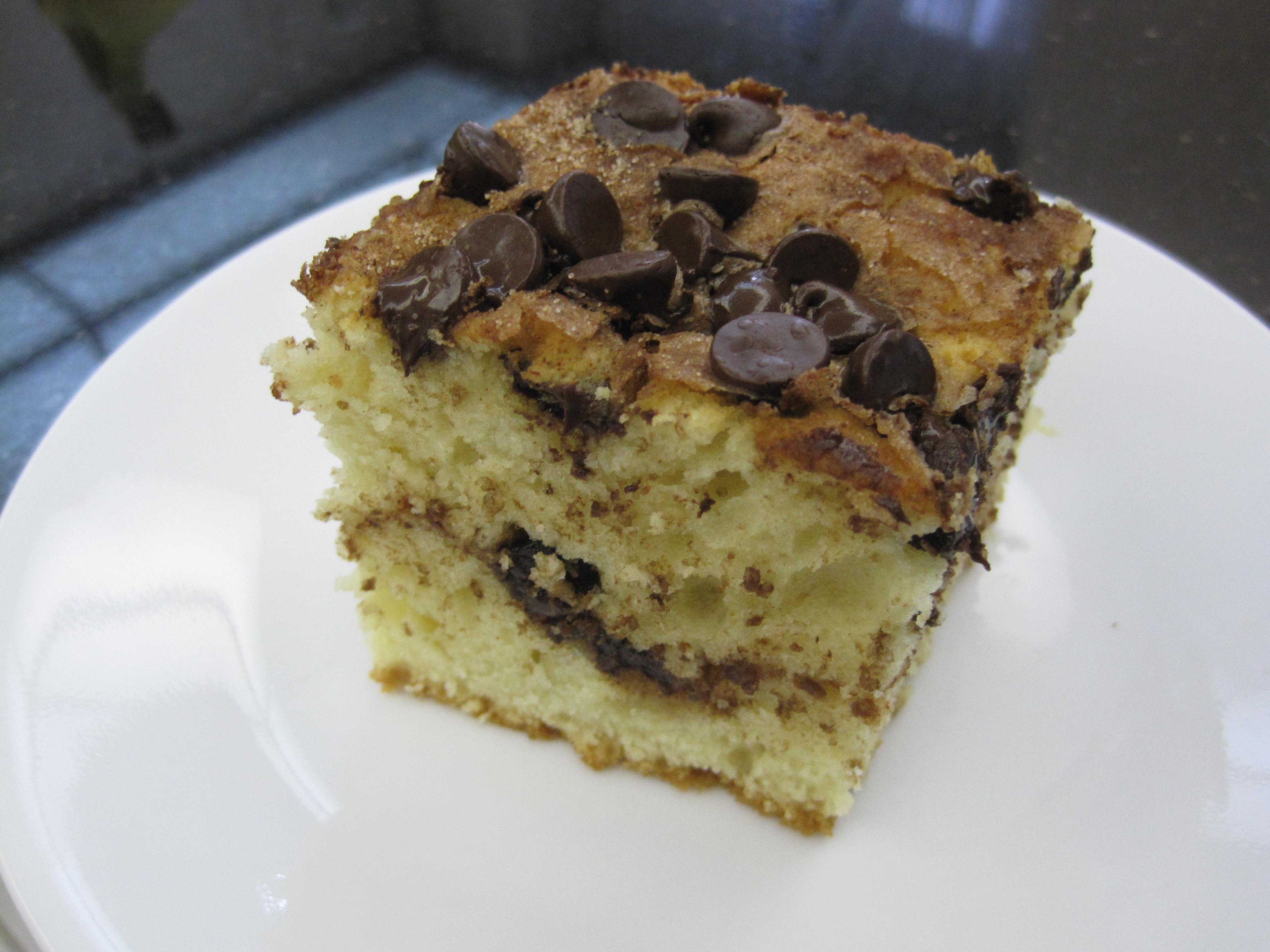 Best Sour Cream Chocolate Chip Coffee Cake