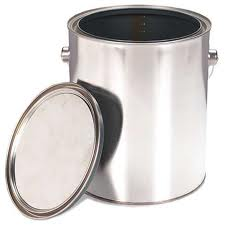 Brand new, small, metal, empty, paint can used as take away gift container.  Photo taken from http://www.rona.ca/en