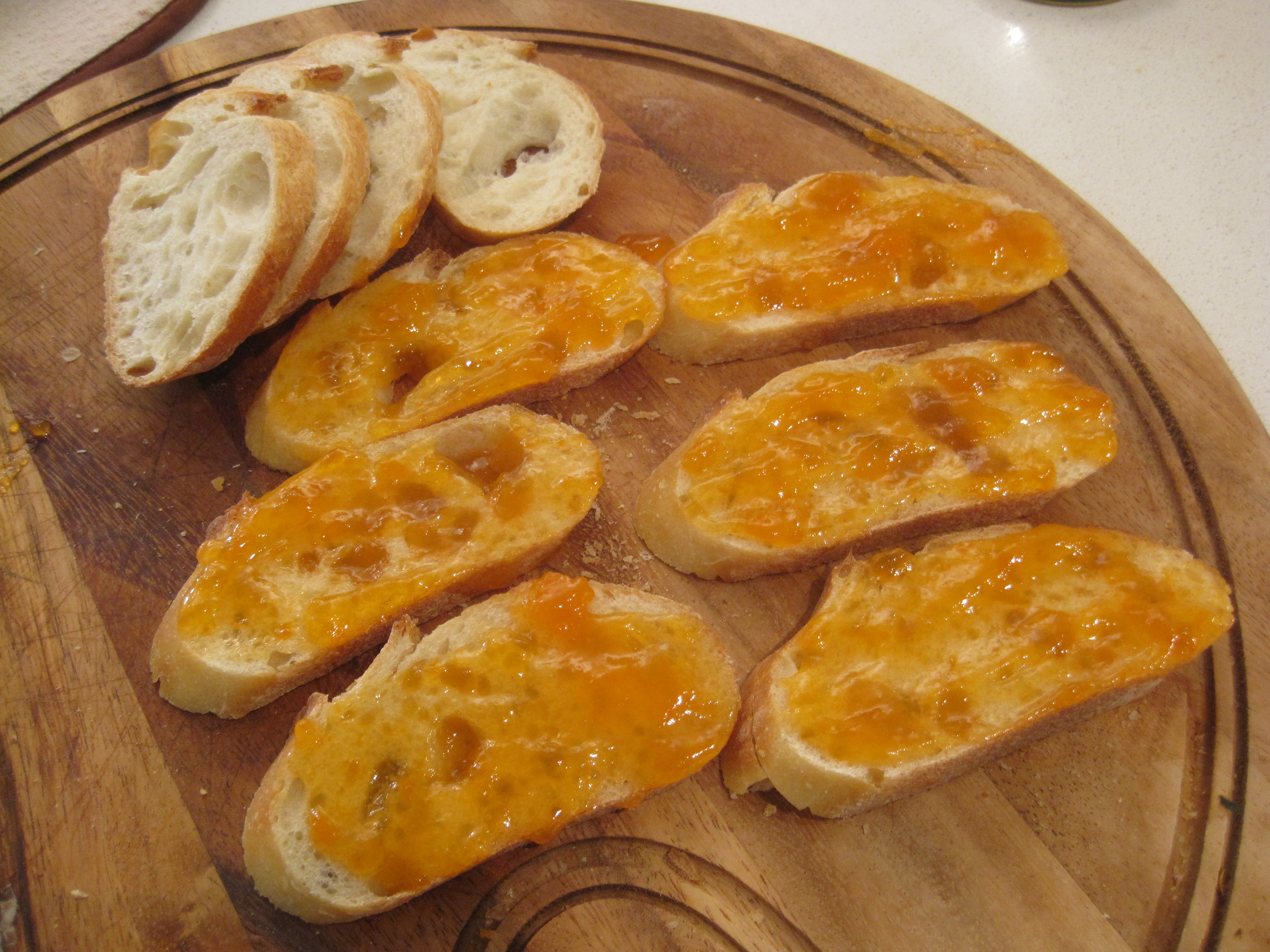 Baked Brie and Apricot Jam Crostini   Cooking with Alison